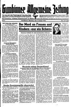 Gumbinner allgemeine Zeitung on Jan 4, 1944