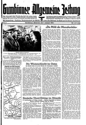 Gumbinner allgemeine Zeitung vom 05.01.1944
