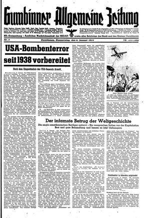 Gumbinner allgemeine Zeitung vom 06.01.1944