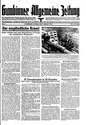 Gumbinner allgemeine Zeitung vom 07.01.1944