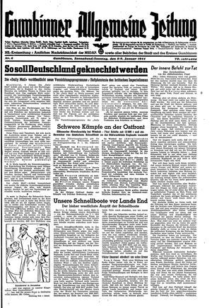 Gumbinner allgemeine Zeitung vom 08.01.1944