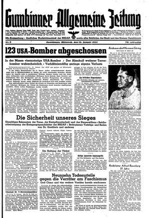 Gumbinner allgemeine Zeitung vom 12.01.1944