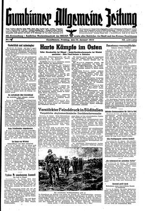 Gumbinner allgemeine Zeitung vom 14.01.1944