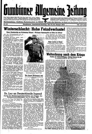 Gumbinner allgemeine Zeitung on Jan 15, 1944