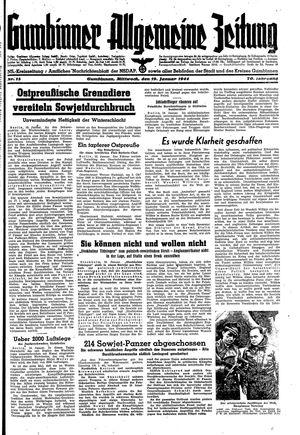 Gumbinner allgemeine Zeitung vom 19.01.1944