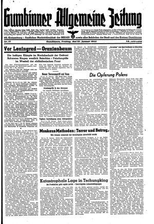 Gumbinner allgemeine Zeitung vom 21.01.1944