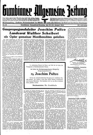 Gumbinner allgemeine Zeitung vom 22.01.1944