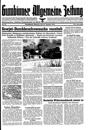 Gumbinner allgemeine Zeitung vom 24.01.1944