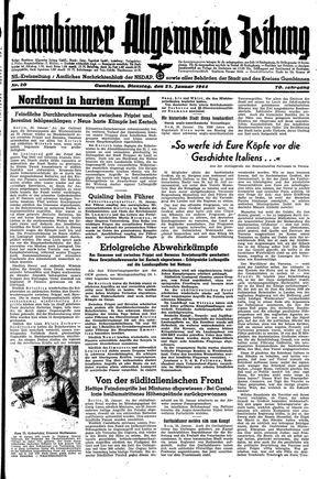 Gumbinner allgemeine Zeitung on Jan 25, 1944