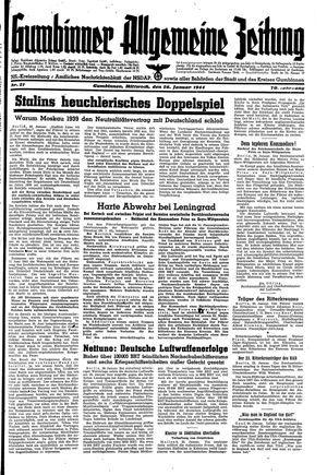 Gumbinner allgemeine Zeitung vom 26.01.1944