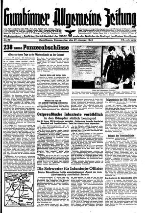 Gumbinner allgemeine Zeitung vom 27.01.1944