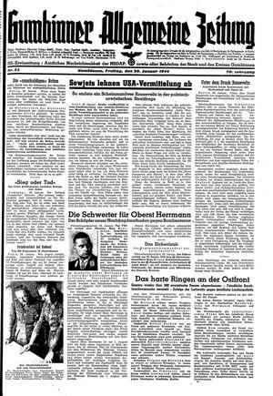Gumbinner allgemeine Zeitung vom 28.01.1944