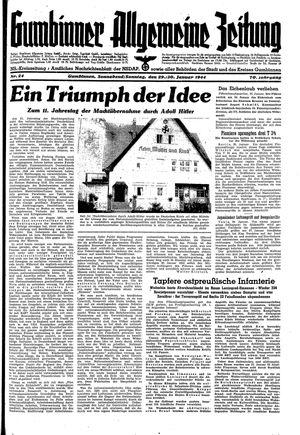 Gumbinner allgemeine Zeitung vom 29.01.1944