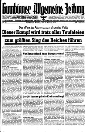 Gumbinner allgemeine Zeitung vom 31.01.1944