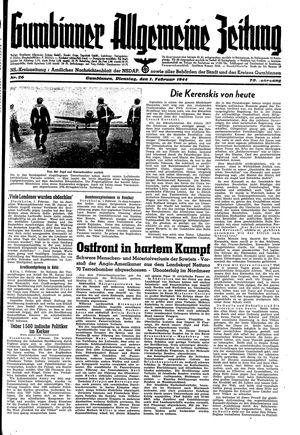 Gumbinner allgemeine Zeitung vom 01.02.1944
