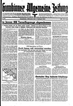 Gumbinner allgemeine Zeitung vom 02.02.1944