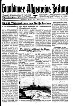 Gumbinner allgemeine Zeitung vom 04.02.1944