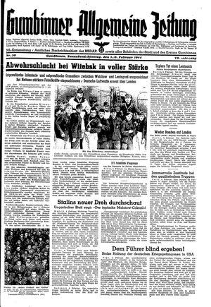 Gumbinner allgemeine Zeitung vom 05.02.1944