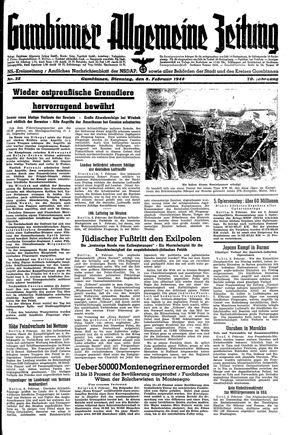 Gumbinner allgemeine Zeitung vom 08.02.1944