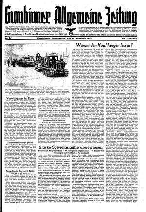 Gumbinner allgemeine Zeitung vom 10.02.1944