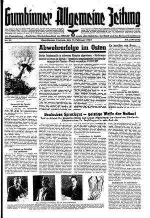 Gumbinner allgemeine Zeitung vom 11.02.1944