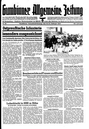 Gumbinner allgemeine Zeitung vom 12.02.1944