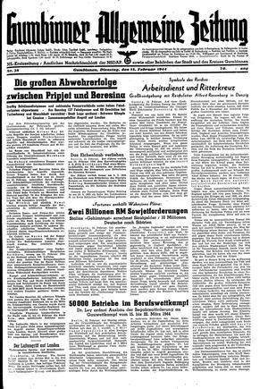 Gumbinner allgemeine Zeitung vom 15.02.1944