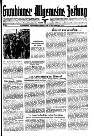 Gumbinner allgemeine Zeitung vom 19.02.1944
