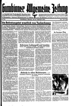 Gumbinner allgemeine Zeitung vom 21.02.1944