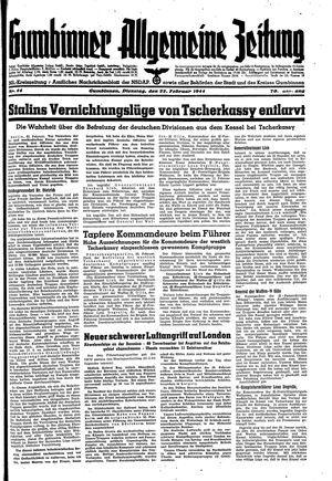 Gumbinner allgemeine Zeitung vom 22.02.1944