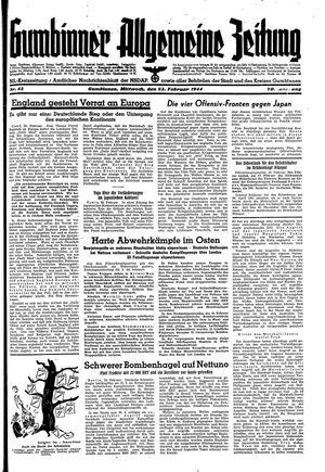 Gumbinner allgemeine Zeitung vom 23.02.1944