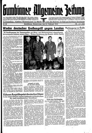 Gumbinner allgemeine Zeitung vom 24.02.1944