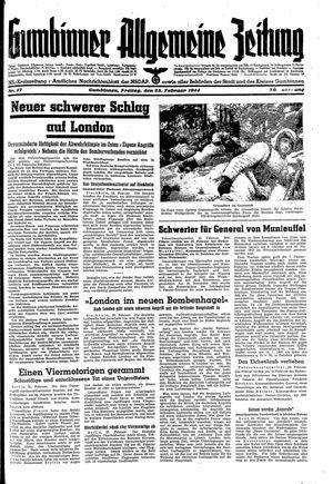 Gumbinner allgemeine Zeitung vom 25.02.1944