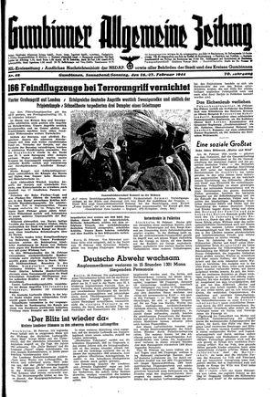 Gumbinner allgemeine Zeitung vom 26.02.1944