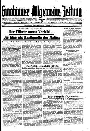 Gumbinner allgemeine Zeitung vom 28.02.1944