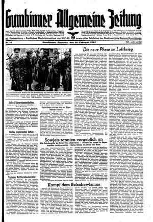Gumbinner allgemeine Zeitung vom 29.02.1944