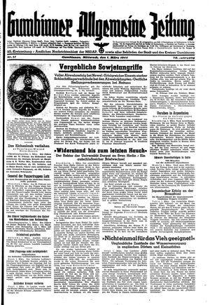 Gumbinner allgemeine Zeitung vom 01.03.1944
