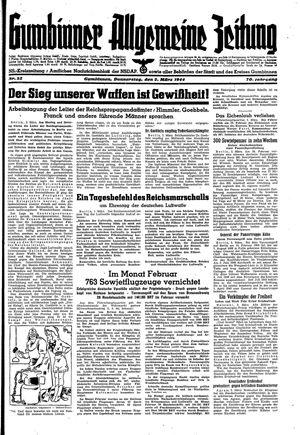 Gumbinner allgemeine Zeitung vom 02.03.1944