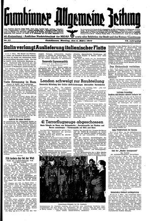 Gumbinner allgemeine Zeitung vom 06.03.1944