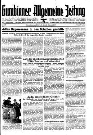 Gumbinner allgemeine Zeitung vom 08.03.1944