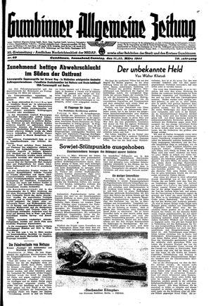 Gumbinner allgemeine Zeitung vom 11.03.1944