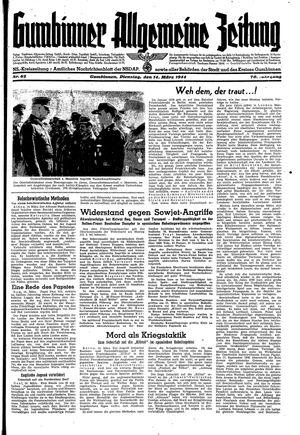 Gumbinner allgemeine Zeitung vom 14.03.1944