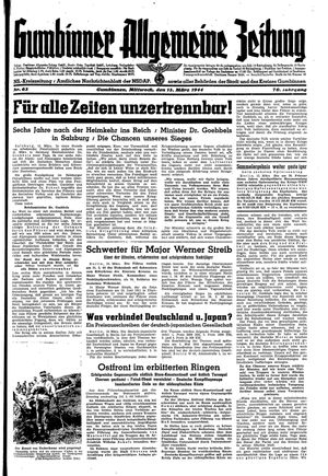 Gumbinner allgemeine Zeitung vom 15.03.1944