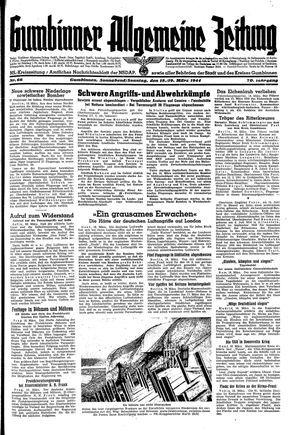 Gumbinner allgemeine Zeitung vom 18.03.1944