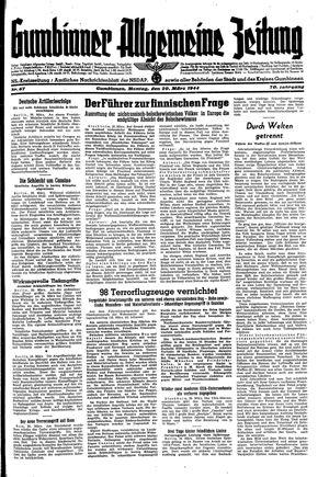 Gumbinner allgemeine Zeitung vom 20.03.1944