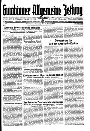 Gumbinner allgemeine Zeitung vom 21.03.1944