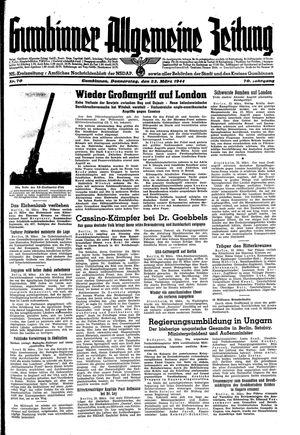 Gumbinner allgemeine Zeitung vom 23.03.1944