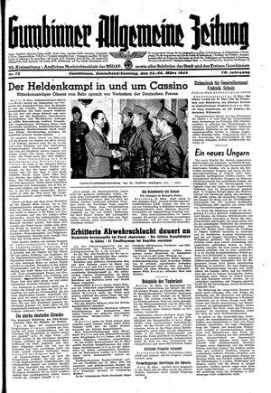 Gumbinner allgemeine Zeitung vom 25.03.1944