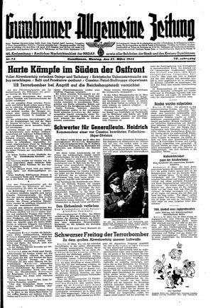 Gumbinner allgemeine Zeitung vom 27.03.1944