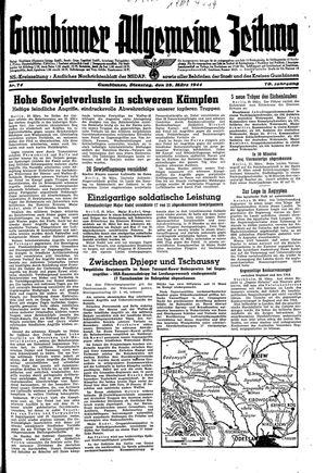Gumbinner allgemeine Zeitung vom 28.03.1944
